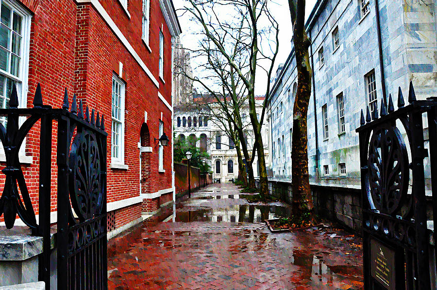 Rainy Philadelphia Alley Photograph - Rainy Philadelphia Alley by Bill Cannon