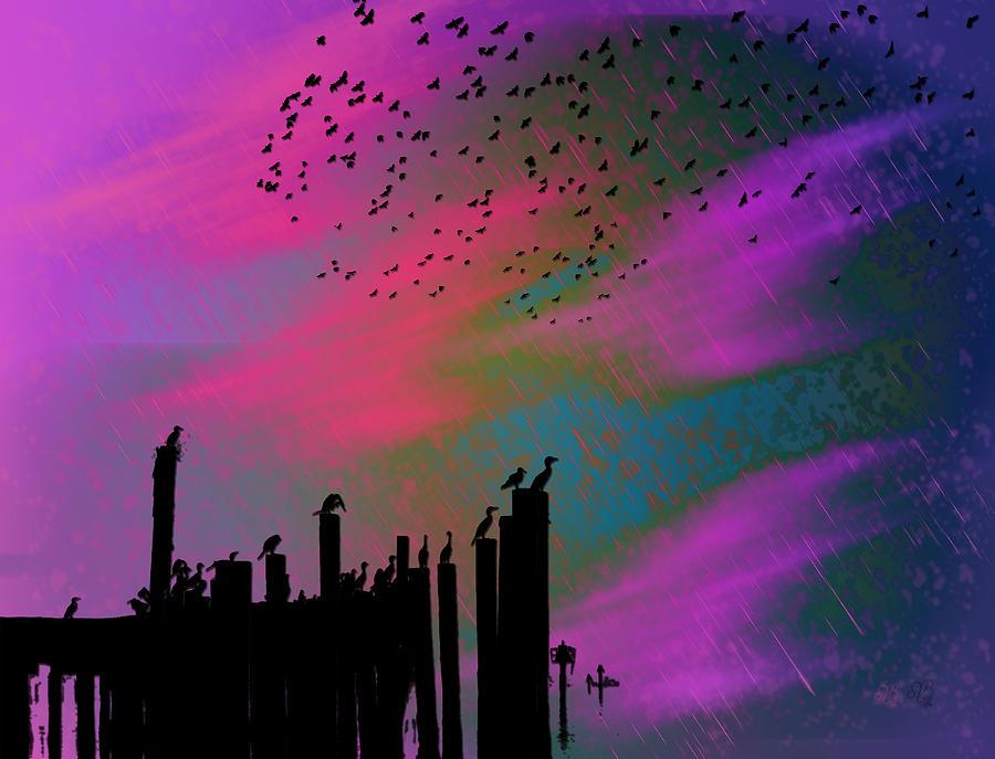 Pink Photograph - Rainy Rainy Night by Barbara Middleton