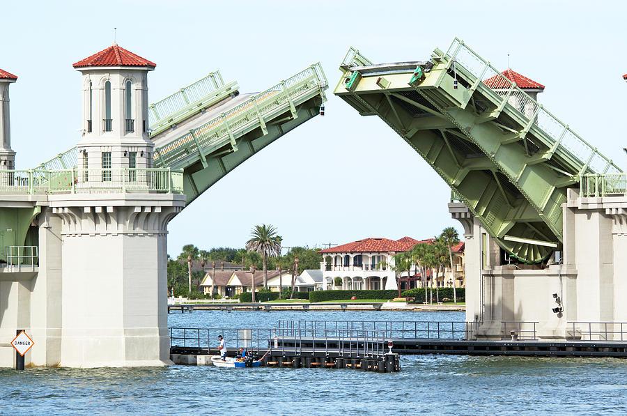 Scenery Photograph - Raised Bridge by Kenneth Albin