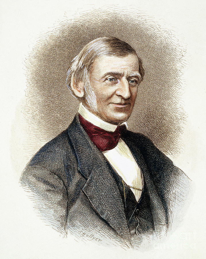 19th Century Drawing - Ralph Waldo Emerson   by Granger