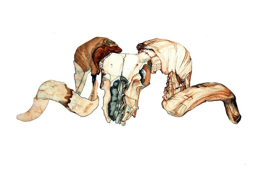 Desert Painting - Ram Skull 2 by Alfred Dominic Ligammari II