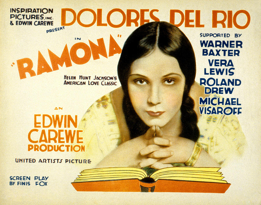 1920s Movies Photograph - Ramona, Dolores Del Rio, 1928 by Everett