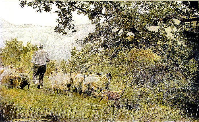 Rancer And Valley Painting by Mahmoud sheykholeslami