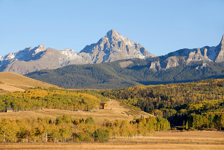 Autumn Photograph - Ranching The Sneffels by David Lee Thompson