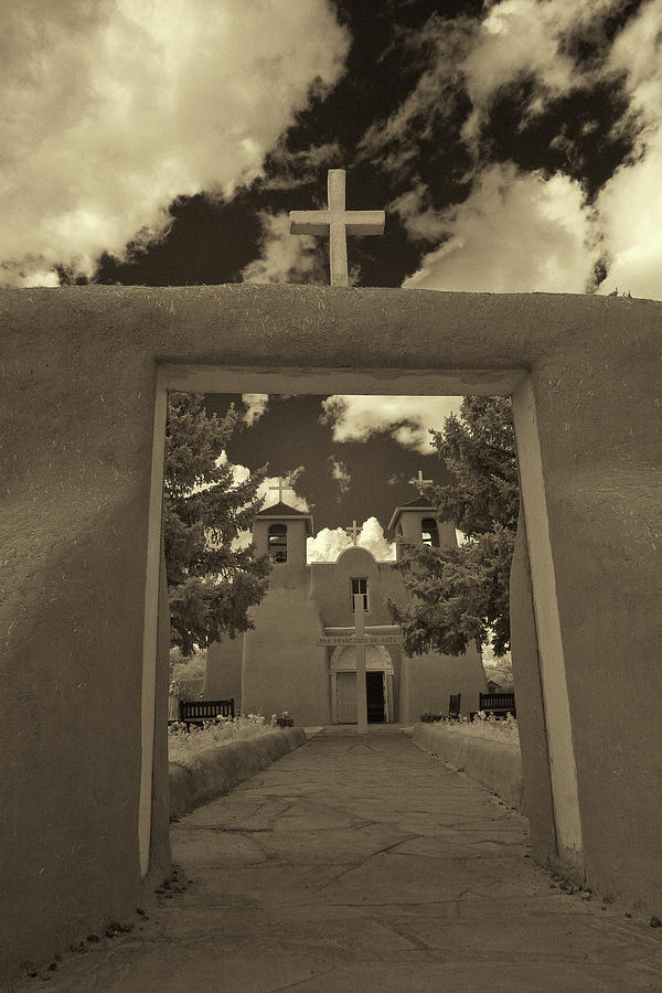 Infrared Photograph - Rancho De Taos by Christine Hauber