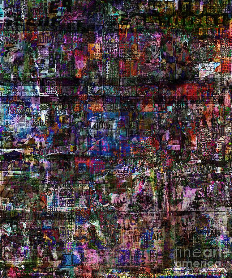 Random Text Digital Art - Random 515 by Andy  Mercer