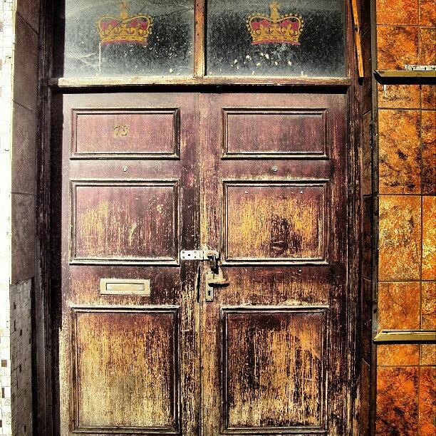 Old Photograph - Random Door In Liverpool Streets by Abdelrahman Alawwad