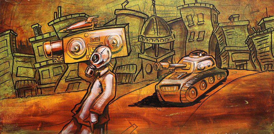 Rap Painting - Rap Battle by Joshua Dixon