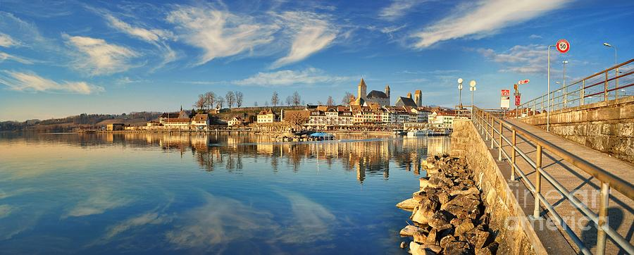 'landscape  Photograph - Rapperswil See by Besar Leka