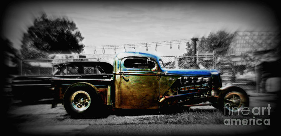 Rat Rod Photograph - Rat Rod Profile by Perry Webster