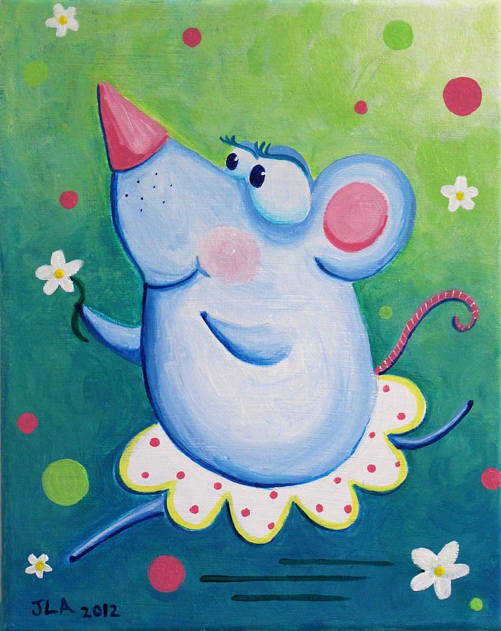 Rat Painting - Ratterina by Jennifer Alvarez