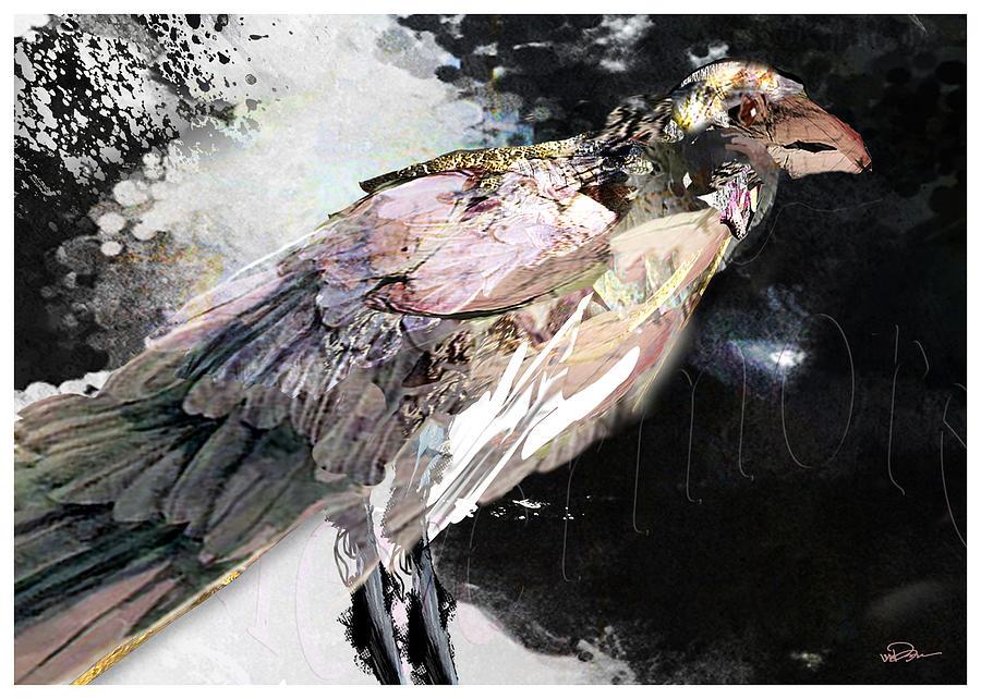 Bird Digital Art - Raven 10 by James VerDoorn