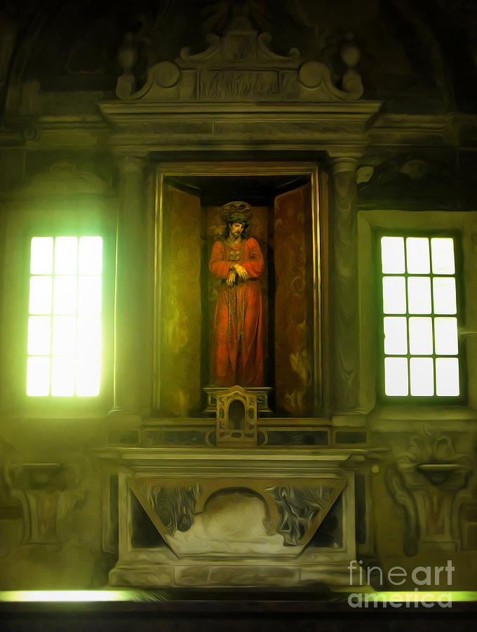 Jesus Christ Painting - Ravenna Italy - Sant Apollinare Nuovo - Jesus Christ by Gregory Dyer