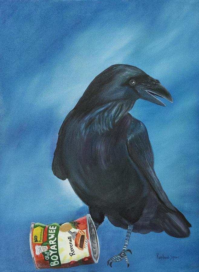 Raven Painting - Ravenoli by Amy Reisland-Speer