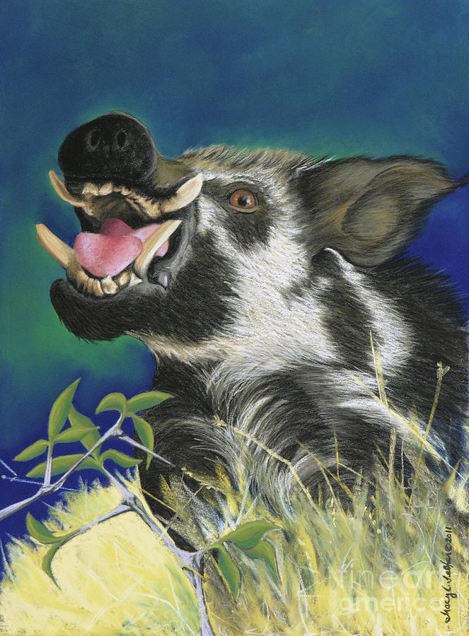 Arkansas Pastel - Razorback by Tracy L Teeter