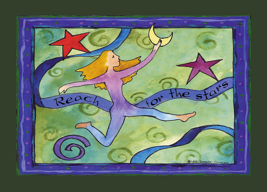 Whimsical Painting - Reach For The Stars by Pamela  Corwin