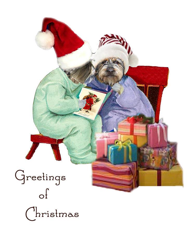 Reading A Christmas Story Digital Art by Alexandra  Sanders