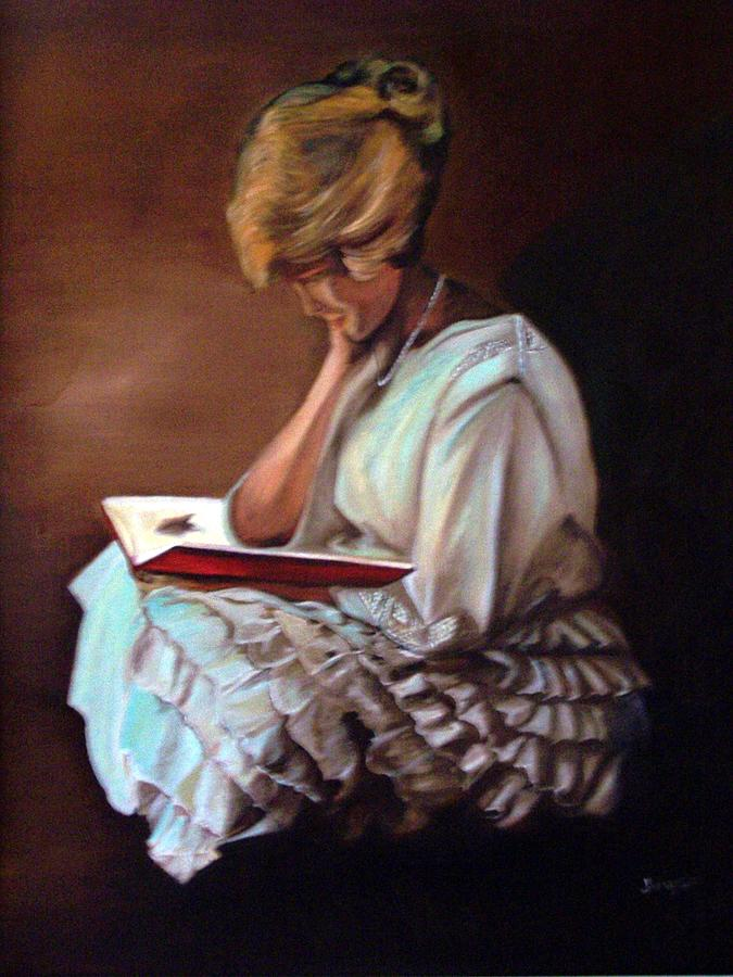 Portrait Painting - Reading by Joyce Reid