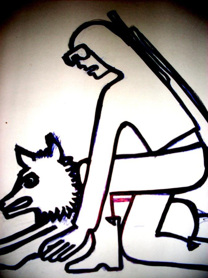 Ready For Freedom1 Drawing by Elena Buftea