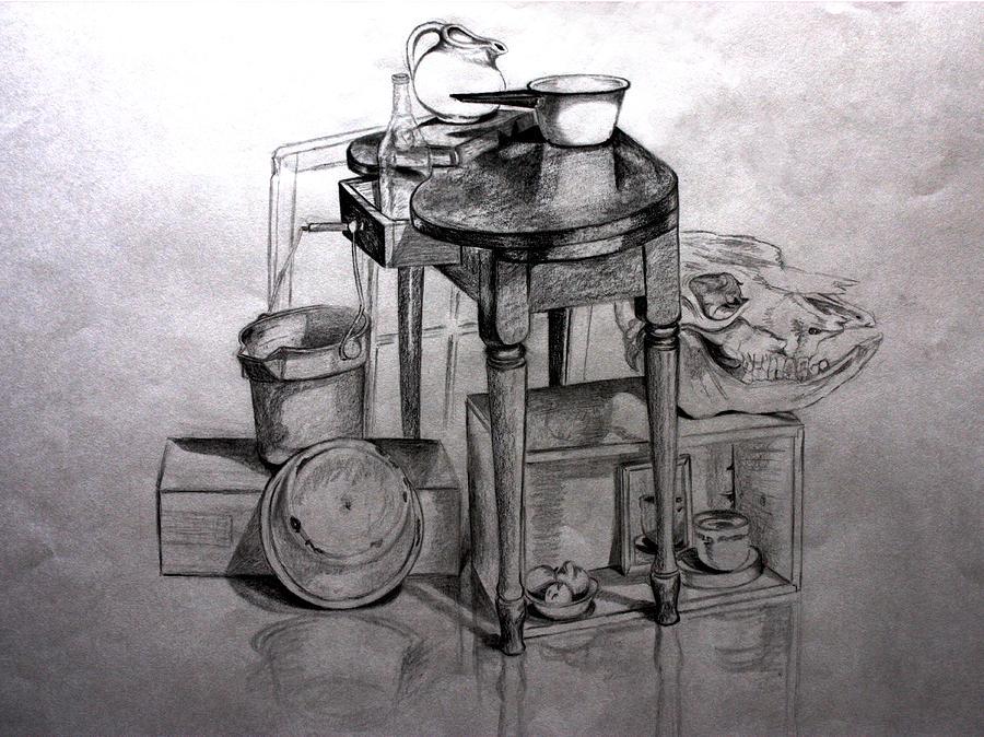Ready For Supper Drawing by Carolyn Ardolino