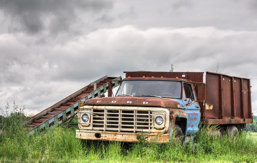 Ford Truck Photograph - Ready For The Harvest by JC Findley