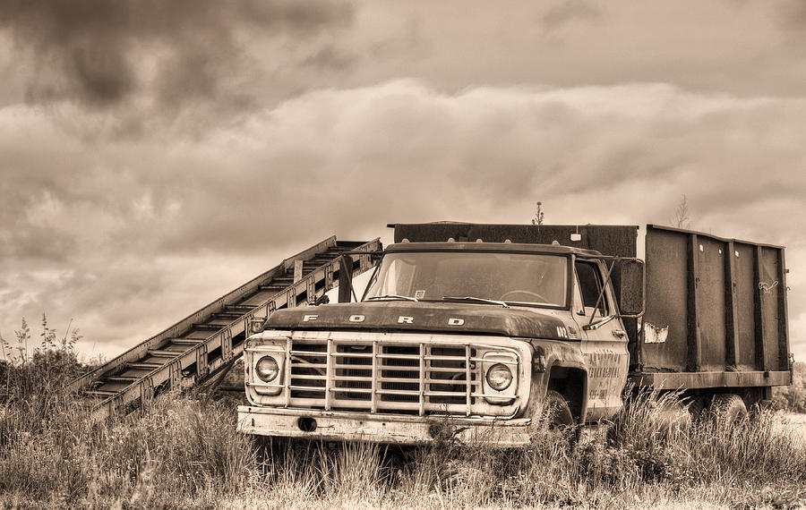 Ford Truck Photograph - Ready For The Harvest Sepia by JC Findley