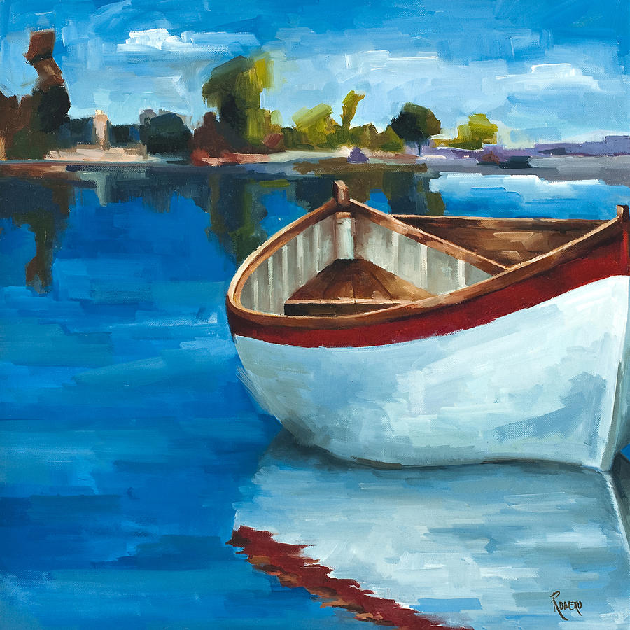 Botes Painting - Ready To Go by Jose Romero