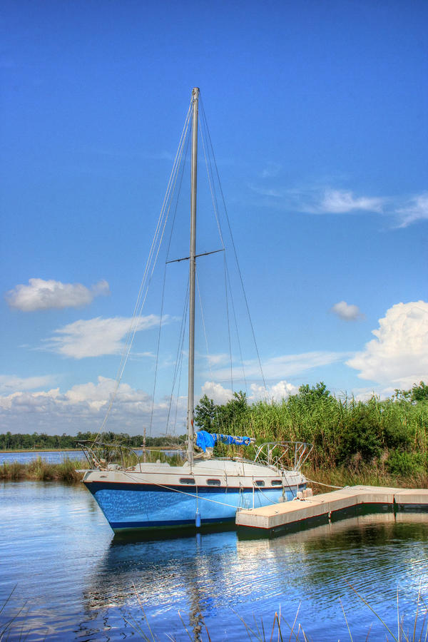 Sailboat Photograph - Ready To Sail by Barry Jones