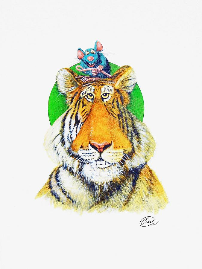 Tiger Painting - Real Friends by Albert Casson