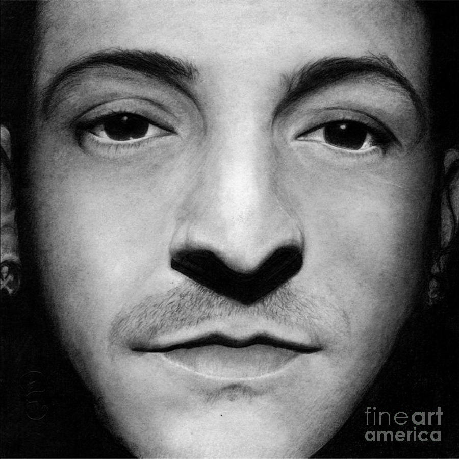 Realistic Pencil Drawing of Chester Bennington Linkin Park by Debbie Engel