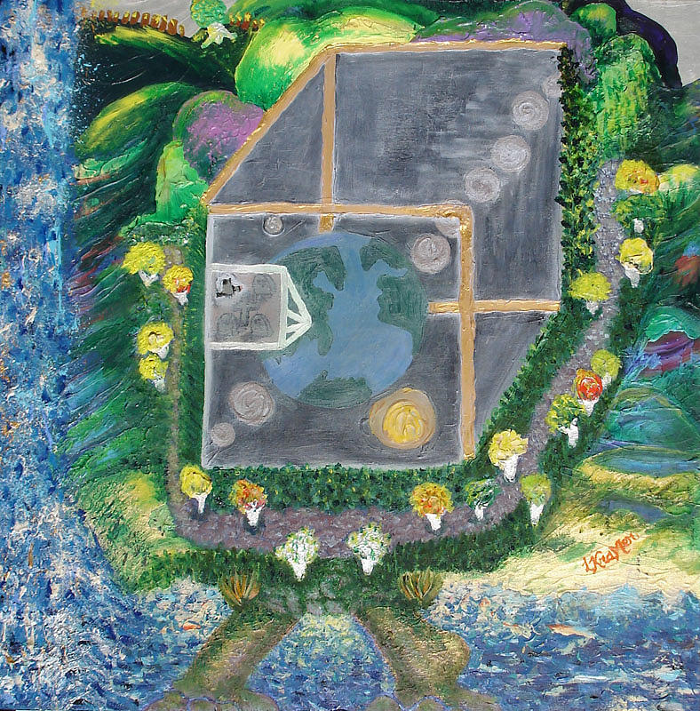 World Painting - Reality. An Ambrosial Metaphysical Or Mortal Universe by Lisa Kramer