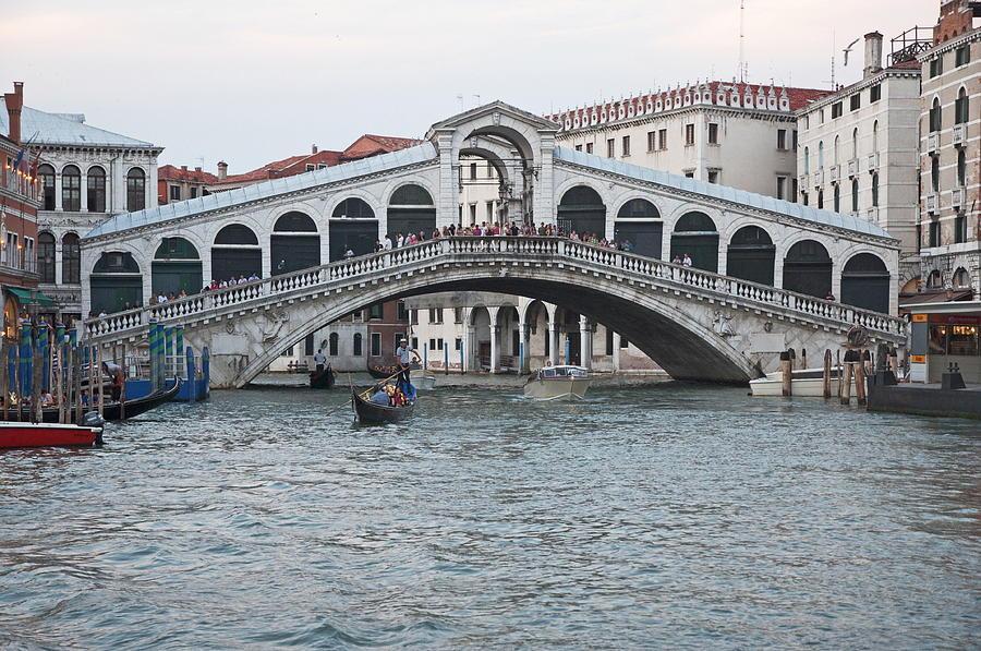 Venice Photograph - Realto Bridge by Cheri Randolph