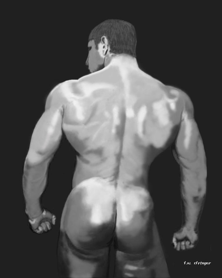 Male Painting - Rear Standing by Tim Stringer