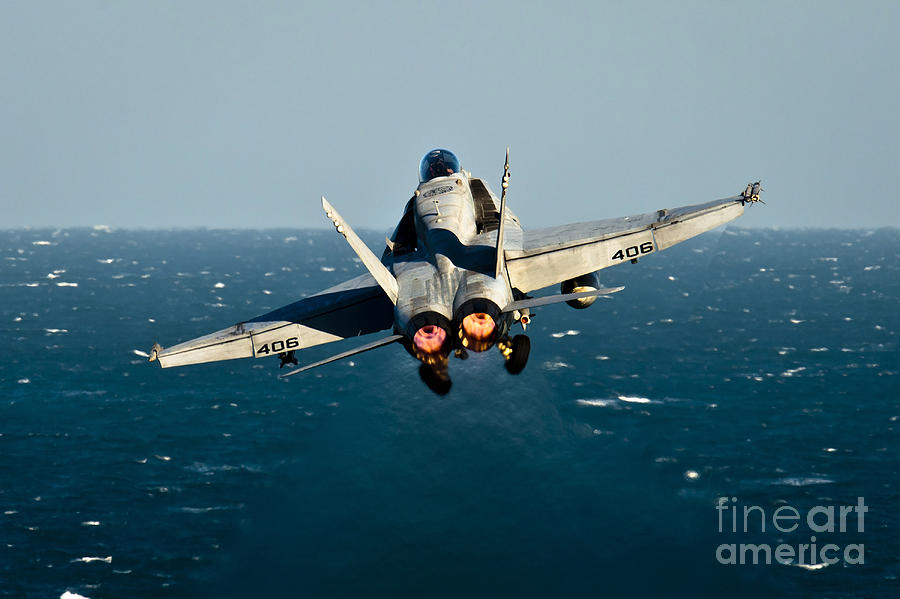 Operation Enduring Freedom Photograph - Rear View Of An Fa-18c Hornet Taking by Stocktrek Images