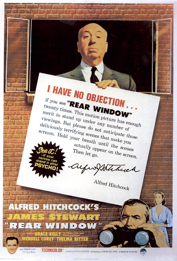 Films By Alfred Hitchcock Photograph - Rear Window, Alfred Hitchcock, James by Everett