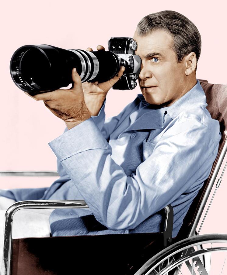 1954 Movies Photograph - Rear Window, James Stewart, 1954 by Everett