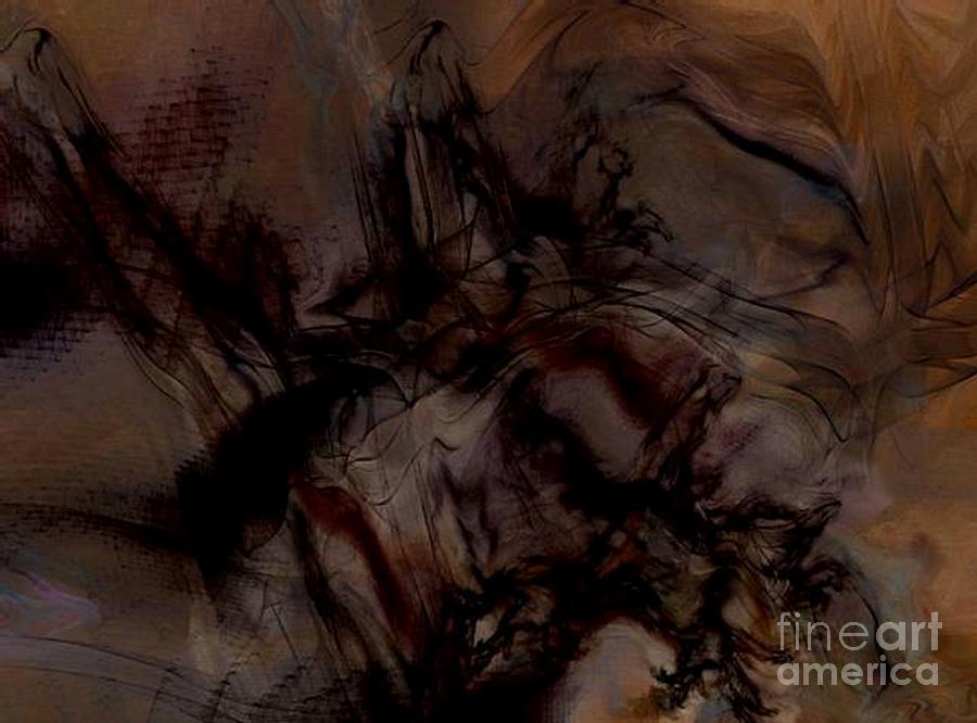 Black Painting - Rearing Upward by Vicki Lynn Sodora