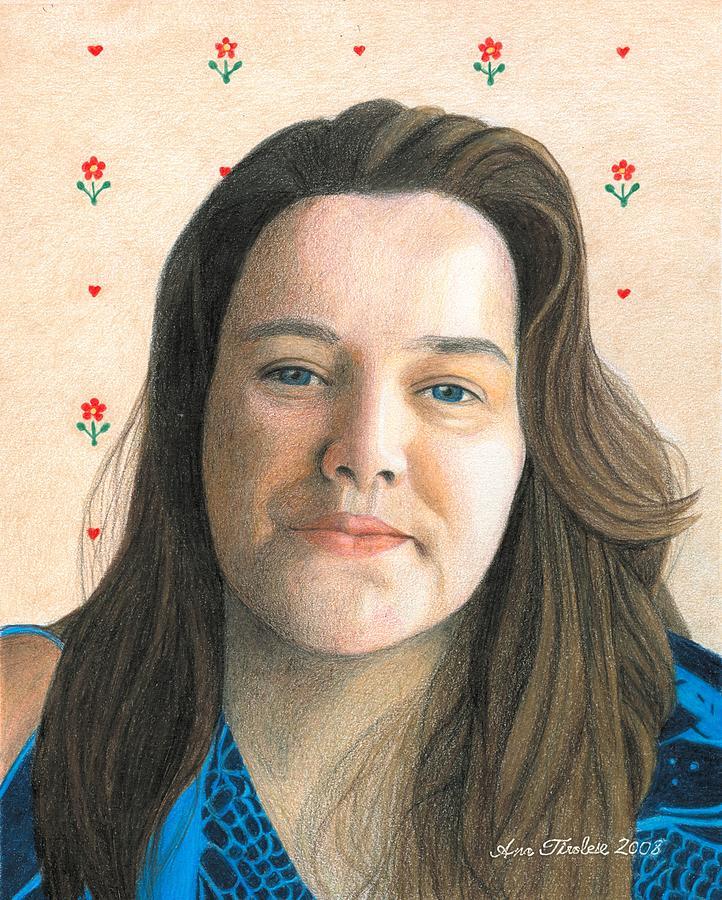 Female Drawing - Rebecca - Puso Coracao by Ana Tirolese