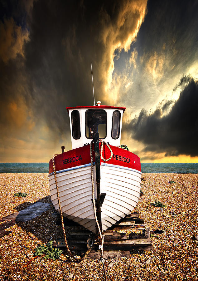 Boat Photograph - Rebecca by Meirion Matthias