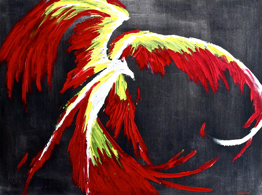 Phoenix Painting - Rebirth by Eric Chapman