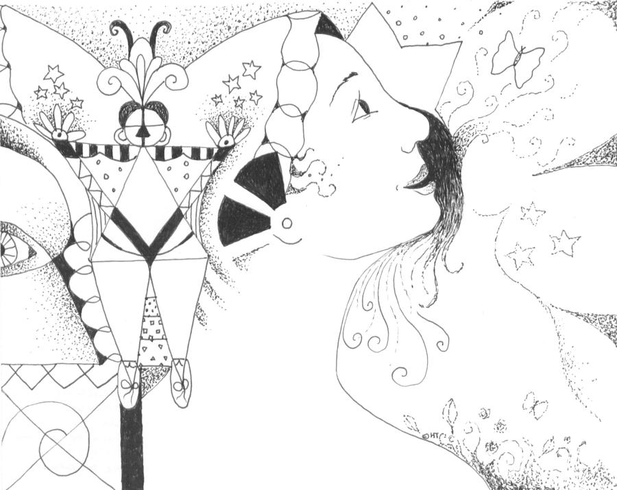 Aspirations Drawing - Recalling Dreams by Helena Tiainen
