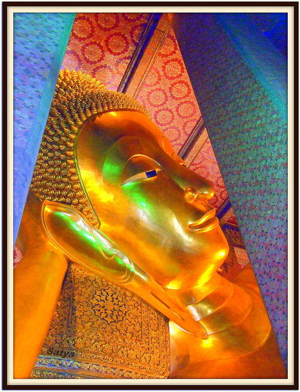 Buddha Pastel - Reclining Buddha by Satya Winkelman