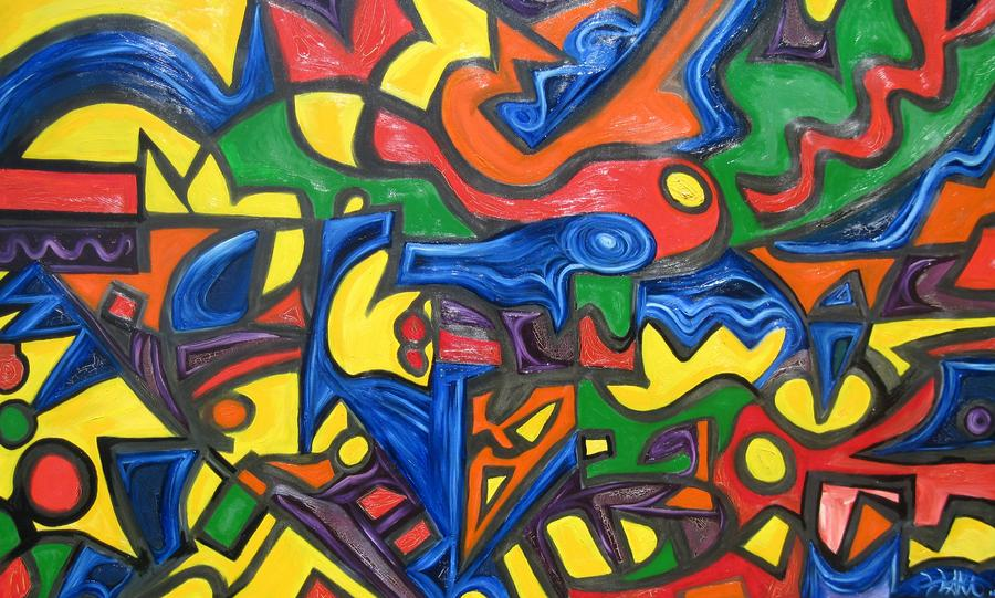 Abstract Painting - Reconstruction  by Alfredo Dane Llana