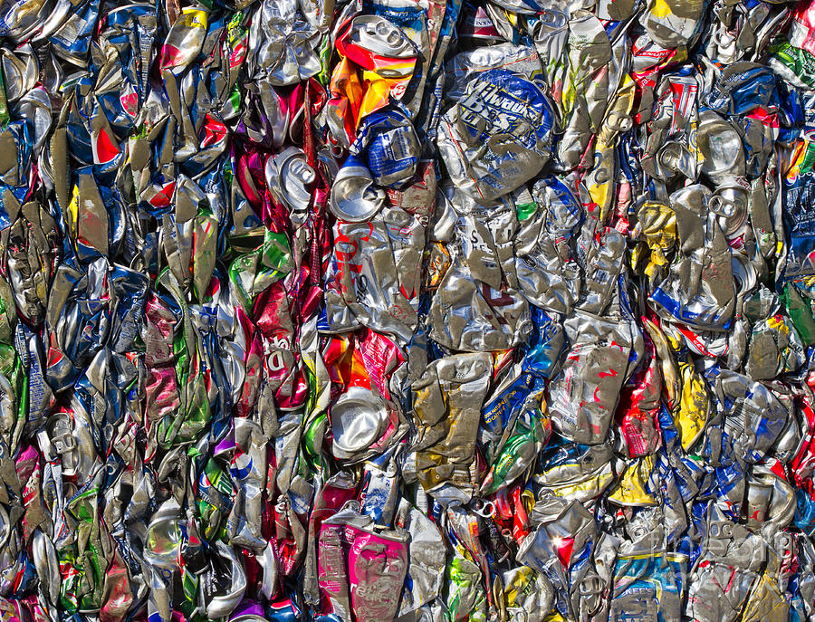 Aluminum Photograph - Recycled Aluminum Cans by David Buffington