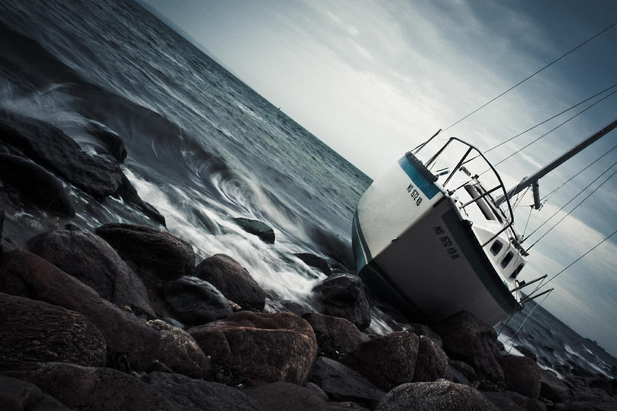 Sailboat Photograph - Recycled by Ben Porway