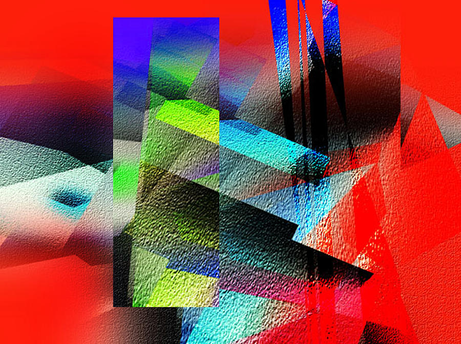 Abstract Painting - Red Abstract 1 by Anil Nene