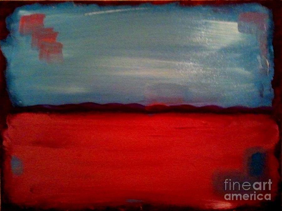 Red And Blue Painting by J Von Ryan