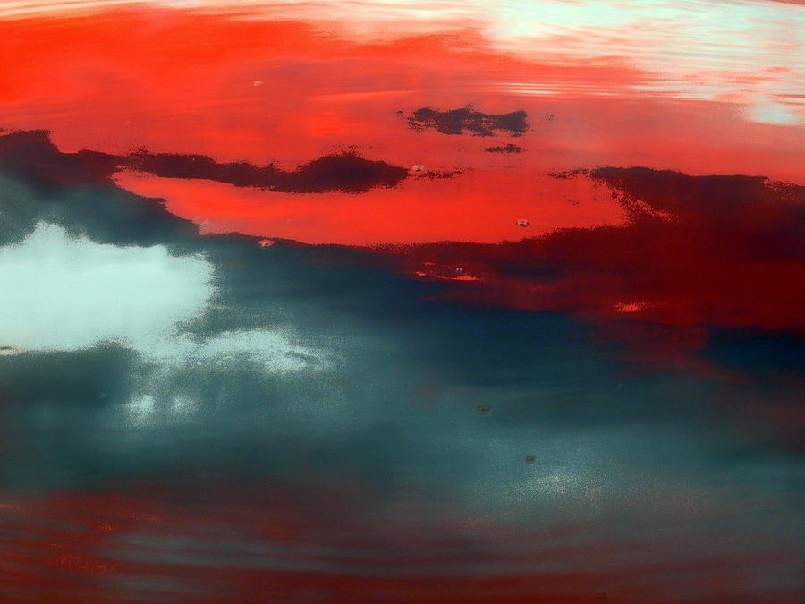 Abstract Photograph - Red And Blue by Marcia Lee Jones
