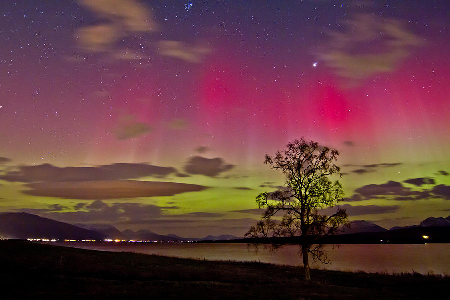 Aurora Borealis Photograph - Red And Green by Frank Olsen