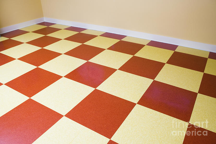 Red And White Checkered Floor Photograph By Andersen Ross